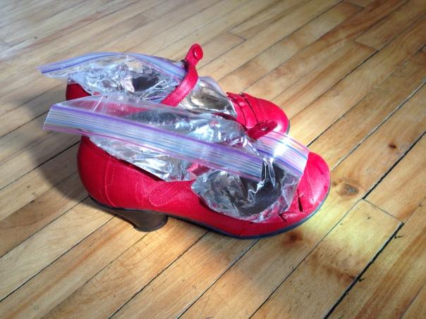 Les souliers pré-opération agrandissement